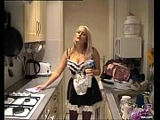 french maid costume play for british pornstar kaz.