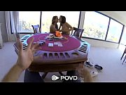 milf playing poker and threesome -.