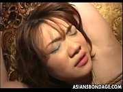 Naughty Asian babe tied up and drenched i ...