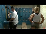 blonde caught after training and busted