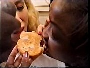 cum on food - interracial toast.