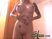 Teen blonde show big-tits on webcam