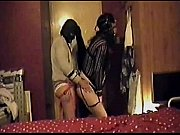 crossdressing sissy gaged blindfolded and buttfucked by a strapon dildo