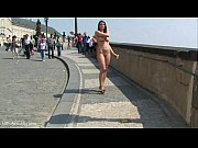 Naughty sweet babes naked on public streets