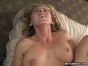 a hot blonde milf is watched get fucked.