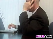 milf being fucked by her boss in the office