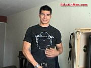 hot masculine latino guy strokes his big uncut verga