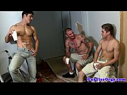 gay orgy closeup with tattooed hunks.