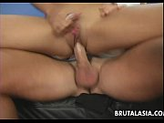 blonde asian whore rides the dick so she.