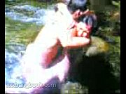 hot asian couple fucked at river.
