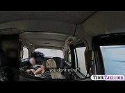 Big tits blonde babe railed in the taxi