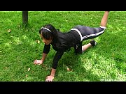 skinny latina Maria sucking and fucking a friend that she just met in the park