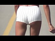 voy beach rollerblading white tight shorts