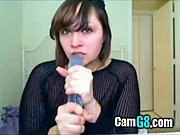 camwhore shows her deepthroat skills -.