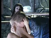 Celeb Jezebelle Bond nude in a sex scene with a guy on table