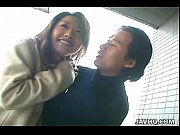 Splendid Japanese brunette gets drilled outdoors