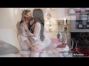Lesbian lovers Aiden Ashley and Daisy Haze have sensual sex