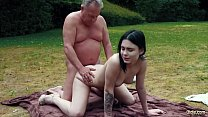 Horny Young Babe Finally Tastes Her Stepdad Coc...