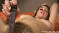 Kinky little dildo is all she ever needed