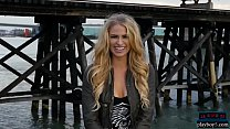 Blue eyed long blonde hair model from Canada st... Thumbnail