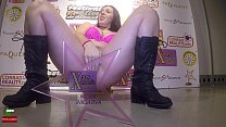 Masturbation with an amazing and huge squirting...
