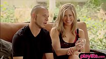 Young amateur couple tries swinger sex for the ...