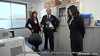 Cute Japanese witch makes her redhead coworker ... />