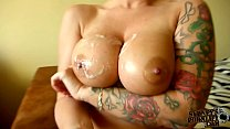 Sensational Titjob With Large Fake Tits! Thumbnail