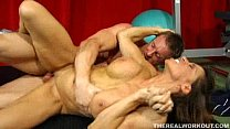 nicely muscled chick fucked hard by her new fitness trainer