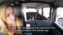 Female Fake Taxi Pretty brunette has 1st lesbia...