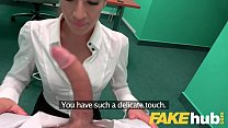 Fake Hospital Sexy Czech estate agent loves suc...