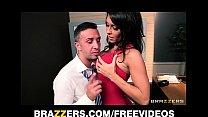 HOT brunette slut seduces her driving instructor for her license