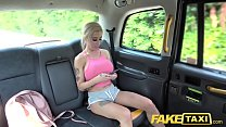 Fake Taxi Squirting busty blonde gives horny bl...