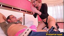 latina tgirl asspounded by lucky dude