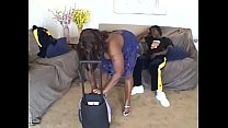 Big assed ebony MILF bends over and gets it doggy style