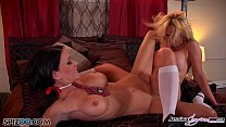 Jessica Jaymes and Nikki dive in to each others wet pussy's Thumbnail