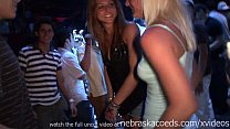 girls flashing tits during huge club party with...