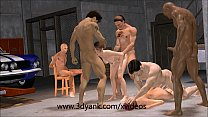 yank 3d from gangbang interracial garage anime 3d