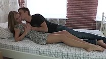 Teen couple making love