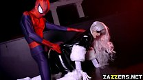 Black Cat screwed by Spidey from behind doggystyle