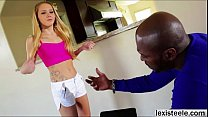 Beautiful babe Hollie gets her cute pussy destroyed by a BBC Thumbnail