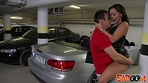 Liza Del Sierra gets fucked on a Car in an unde...