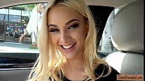 Seductive teen blonde hottie hitchhikes and get... thumb