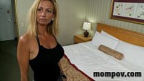 big tit milf fucks two young cocks