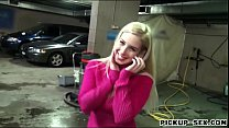 Pretty Eurobabe Ellen fucked in car park for a ...