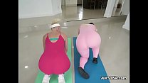 Curvy Hoes Get Their Booties Fondled By Personal Trainer