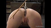 Hogtied - Sarah Blake tied up and made cum over...
