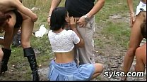 2 ORGIES outdoor Between TEENS and MATURES