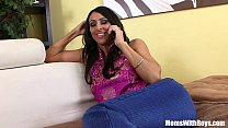 pussy her into bbc a sticking black raven milf horny raven