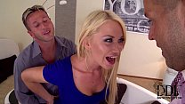 Lindsey Olsen Blows A Boner While Riding Cock W...